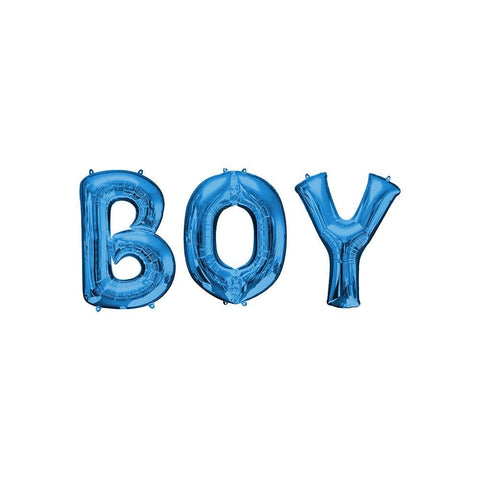 Boy Balloon Letters