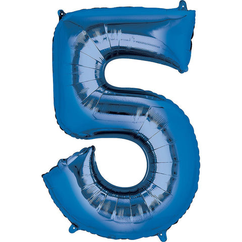 Blue Number Balloon 34in