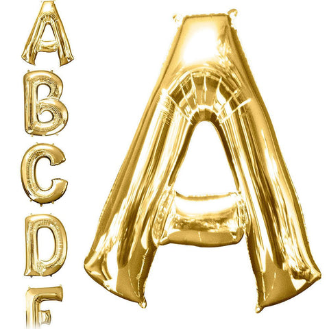 34in Gold Letter Balloon