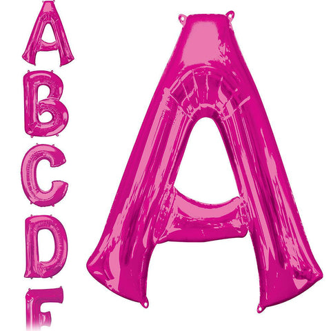 34in Pink Letter Balloon