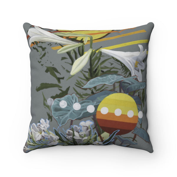 """Growth"" Spun Polyester Square Pillow"