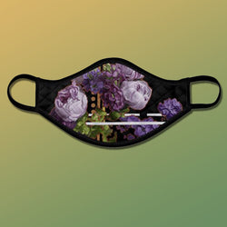 Purple Peonies Face Mask