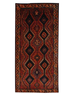 "Antique Persian Shiraz 4' 4"" x 8' 3"" Handmade Area Rug - Shabahang Royal Carpet"