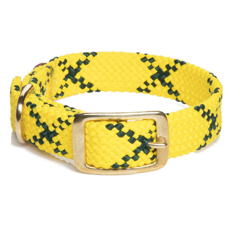 Collar Trenzado Hi Viz Yellow - Pet Vibes