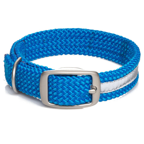 Collar Trenzado Reflectante Azul - Pet Vibes