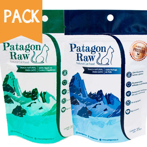 Pack  Patagon Raw Gato, Cordero y Pollo