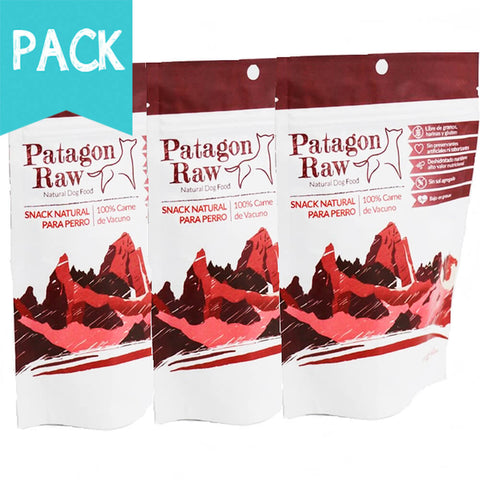 Pack Snack Carne Patagon Raw