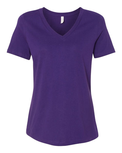 BELLA + CANVAS - Women's Relaxed Jersey V-Neck Tee - 6405