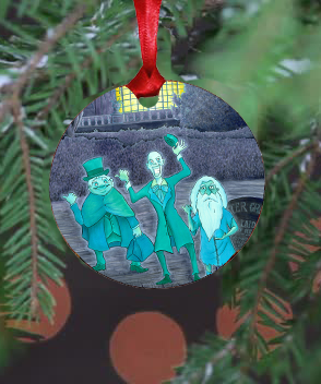 Hitchhiking Ghosts Ornament