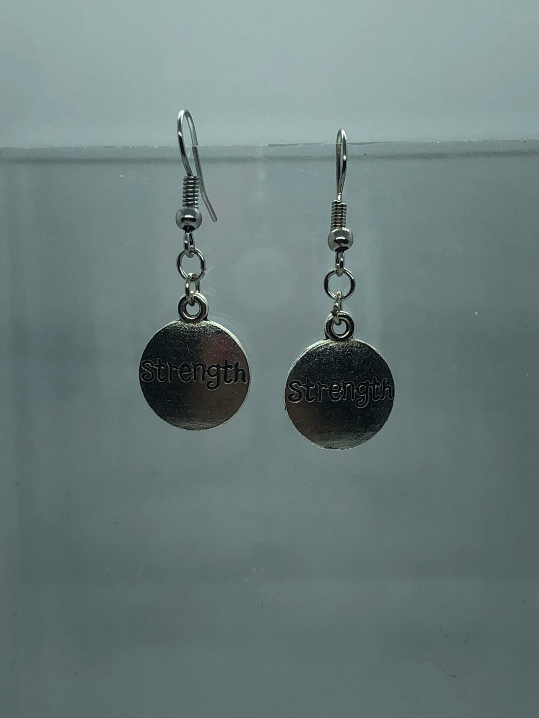 Silver Strength Coin Earrings