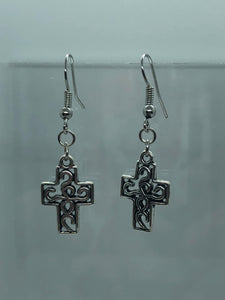 Silver Celtic Cross 2 Earrings