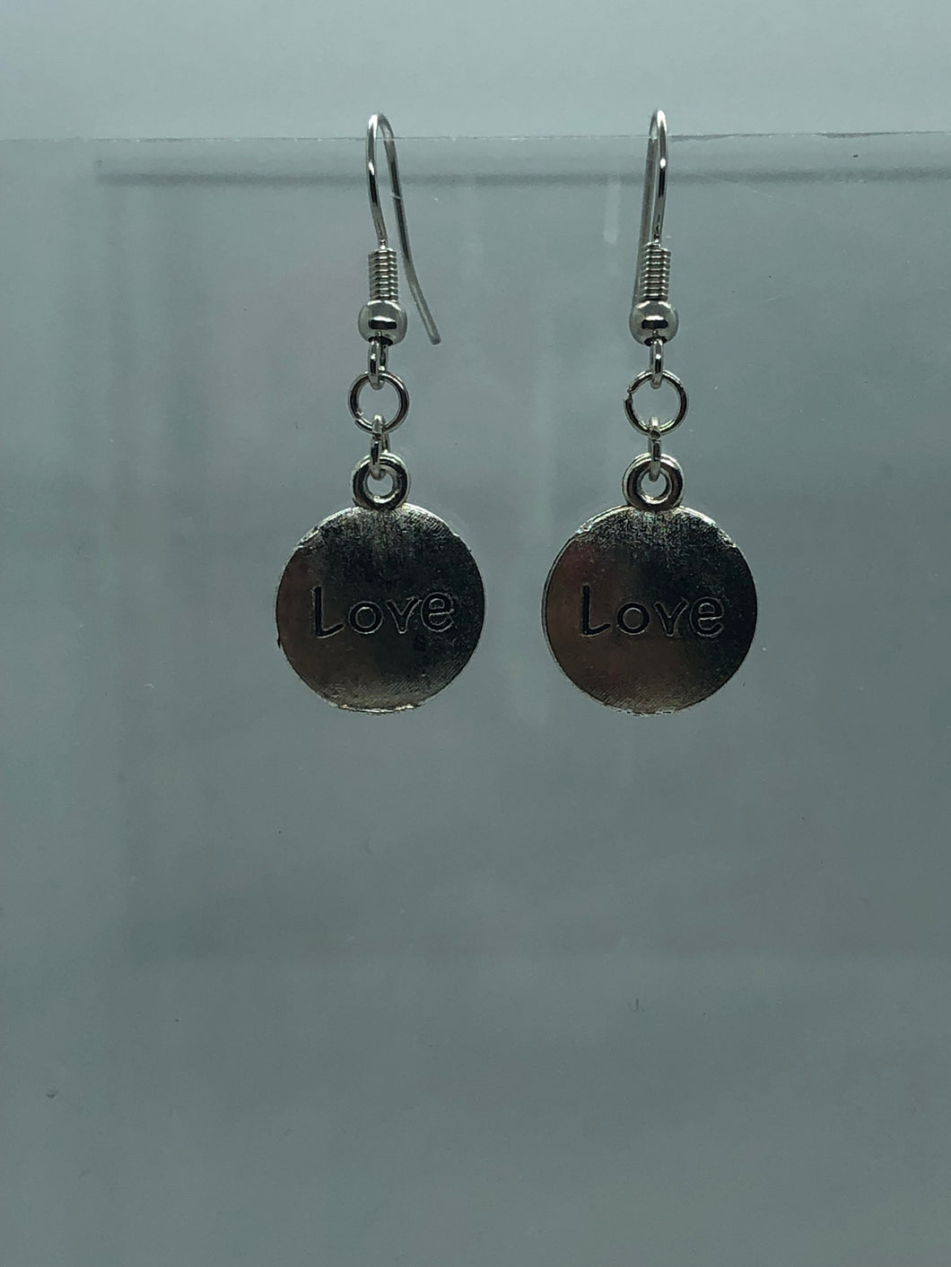 Silver Love Coin Earrings