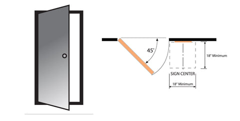 ADA Sign installation Install Guidelines.  Make sure your ADA signs are compliant with the correct installation