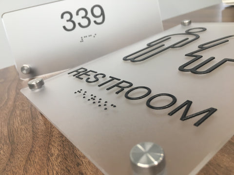 Custom designed ADA Collections, ADA Compliant Braille Interior Signs, NapADAsigns.com