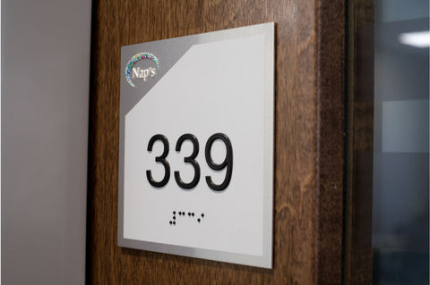 ADA Room Number Signs with Braille - NapADAsigns.com