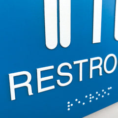 Nap's ADA Compliant Standard Signs - Braille Restroom Interior Signs