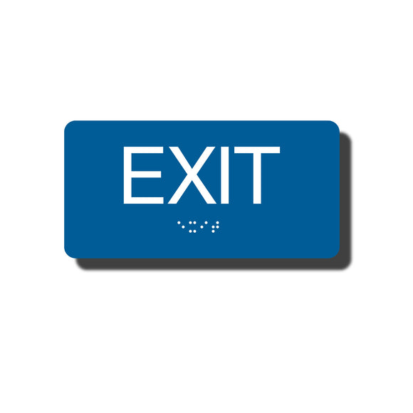 Standard ADA Sign - NapADASigns - ADA Exit Sign with Braille - 23 Colors - 6