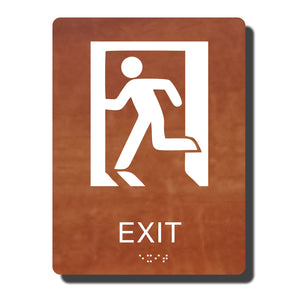 "Standard ADA Sign - NapADASigns - ADA Exit Sign with Braille - 14 Colors - 6"" x 8"" - napadasigns"