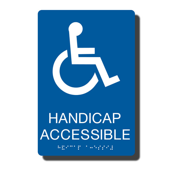 Standard ADA Sign - NapADASigns - ADA Handicap Accessible Sign with Braille - 23 Colors - 6