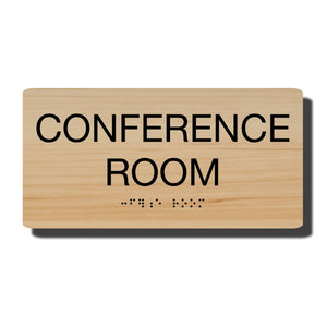 "Standard ADA Sign - NapADASigns - ADA Conference Room Sign with Braille - 23 Colors - 8"" x 4"" - napadasigns"