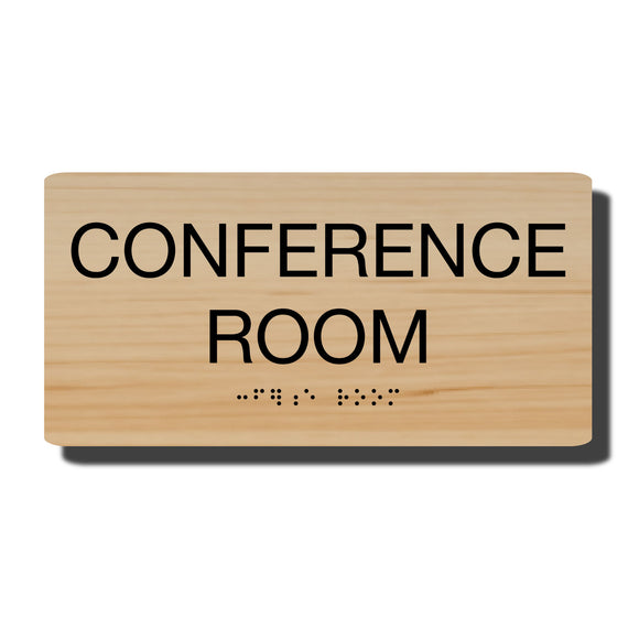 Standard ADA Sign - NapADASigns - ADA Conference Room Sign with Braille - 23 Colors - 8