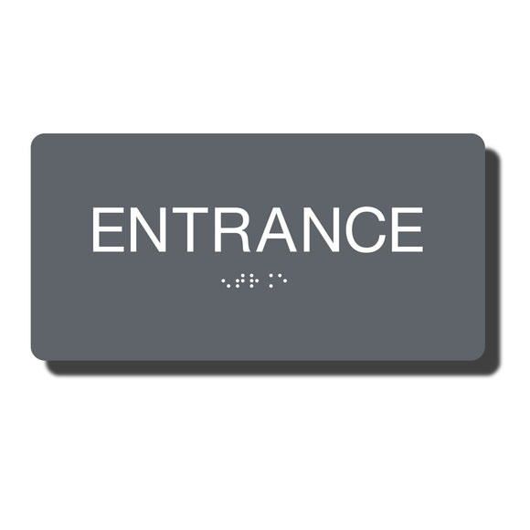 Standard ADA Sign - NapADASigns - ADA Entrance Sign with Braille - 14 Colors - 8