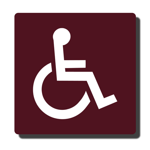 Standard ADA Sign - ADA Compliant Accessible Wheelchair Sign - 14 Colors - 8