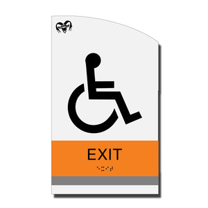 ADA Accessible Exit Sign with Braille - Acrylic layered plastic - Brand Collection