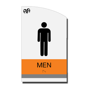 ADA Men Restroom Sign with Braille - Acrylic layered plastic - Brand Collection