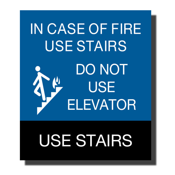 ADA Chroma Elevator Sign - NapADASigns - ADA Stair Sign - Plastic - Chroma Collection - napadasigns