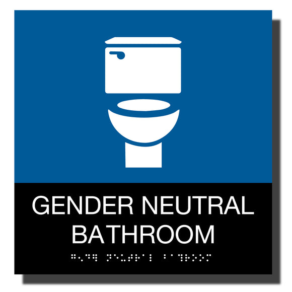 ADA Chroma Gender Neutral Sign - NapADASigns - ADA Gender Neutral Bathroom Sign - Plastic - Chroma Collection - napadasigns