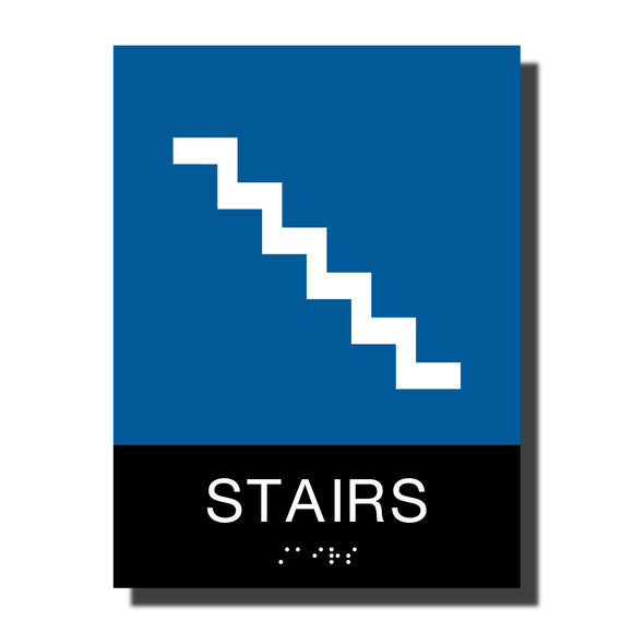 ADA Chroma Stair Sign - NapADASigns - ADA Stair Sign with Braille - Plastic - Chroma Collection - napadasigns