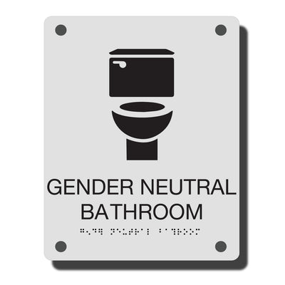 ADA Gender Neutral Bathroom Sign with Braille - Acrylic -  Construct Collection