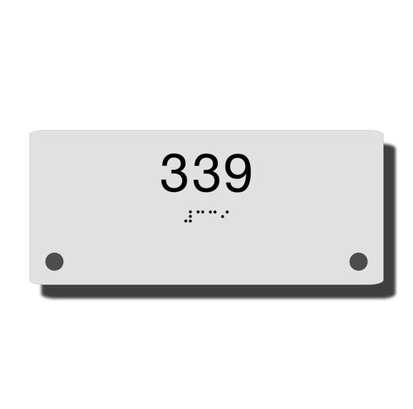 Custom Braille Room Signs - ADA Construct Room Name Sign - NapADASigns - Custom ADA Room Number Sign with Braille - Acrylic - Construct Collection - napadasigns
