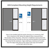 "Standard ADA Sign - NapADASigns - ADA Family Restroom Sign with Braille - 23 Colors - 6"" x 8"" - napadasigns"
