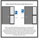 NapADAsigns - Custom ADA Compliant Braille Signs - Designer Sterling Sign Collection