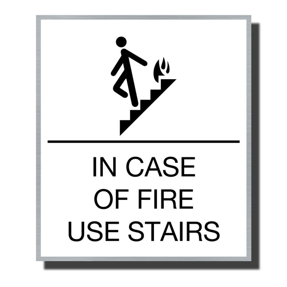ADA Sterling Stair Sign - NapADASigns - ADA Stair Sign - Aluminum - Sterling Collection - napadasigns