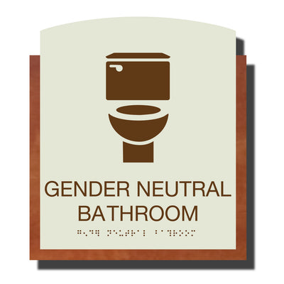ADA Gender Neutral Bathroom - Plastic - Timber Collection