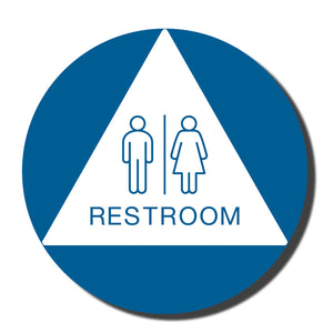 "California ADA Restroom Signs - ADA Compliant - Title 24 - 12"" - napadasigns"