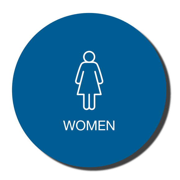 California ADA Womens Restroom Signs - ADA Compliant - Title 24 - 12