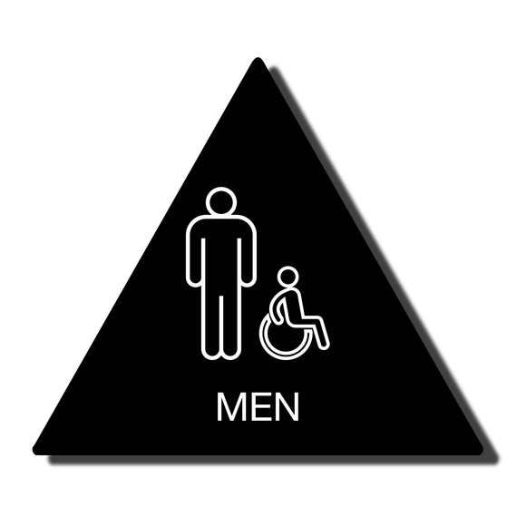 California ADA compliant Accessible Restroom Signs - Men California Bathroom Signs