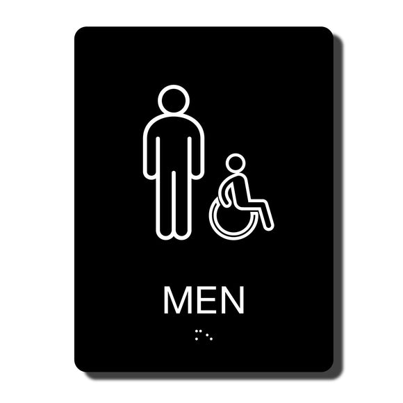 ADA California Men's Handicap Restroom Wall Sign - 6