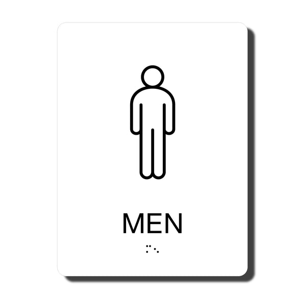 ADA California Men's Restroom Wall Sign - 6
