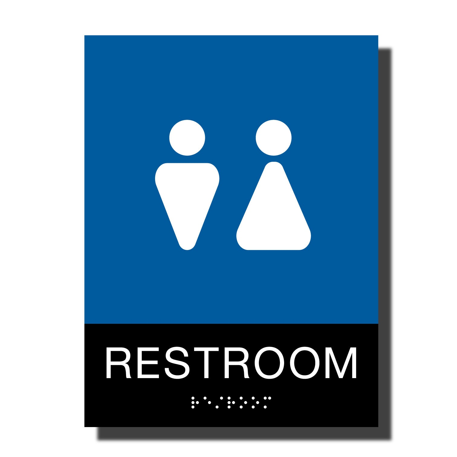 ADA Chroma Restroom Sign - NapADASigns - ADA Restroom Sign with Braille - Plastic - Chroma Collection - napadasigns