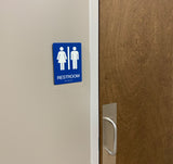 "Standard ADA Sign - NapADASigns - ADA Gender Neutral Restroom Sign with Braille - 23 Colors - 9"" x 10"" - napadasigns"