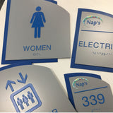 Custom Braille Room Signs - NapADAsigns - Custom ADA Compliant Sign - Designer Structure Sign Collection
