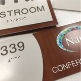NapADAsigns - Custom ADA Compliant Signs - Designer Timber Sign Collection