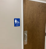 NapADASigns - Standard ADA Compliant Sign - 14 Color Combinations