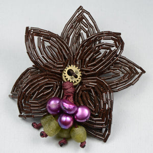 Pearl flower - Brown