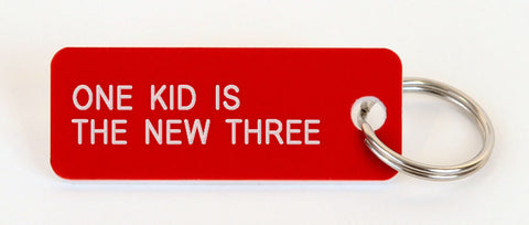 ONE KID IS THE NEW THREE